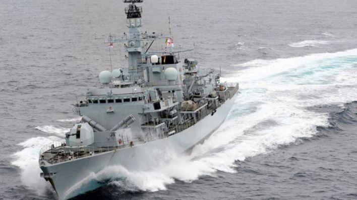 (أرشيف) فرقاطة تابعة للبحرية البريطانية