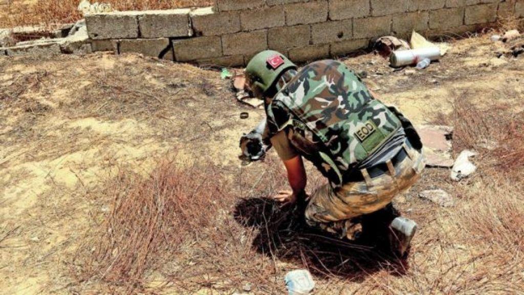 أخصائي تركي في نزع الألغام، طرابلس عاصمة ليبيا، 15 يونيو/حزيران 2020