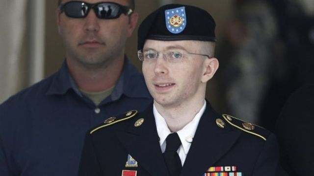 Chelsea Manning at Fort Meade, Maryland, in July 2013