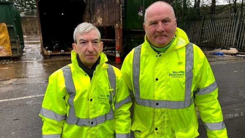 Tony Scanlon and Kenny McAdam saved the day for a local family