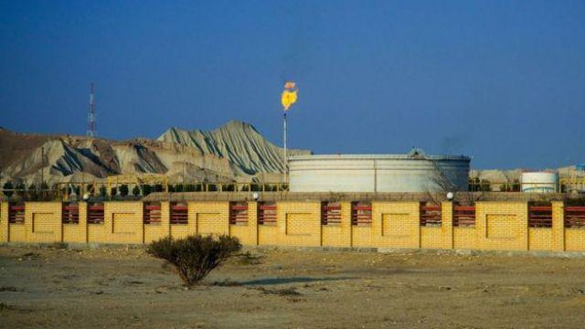 Planta de producción de petróleo iraní.