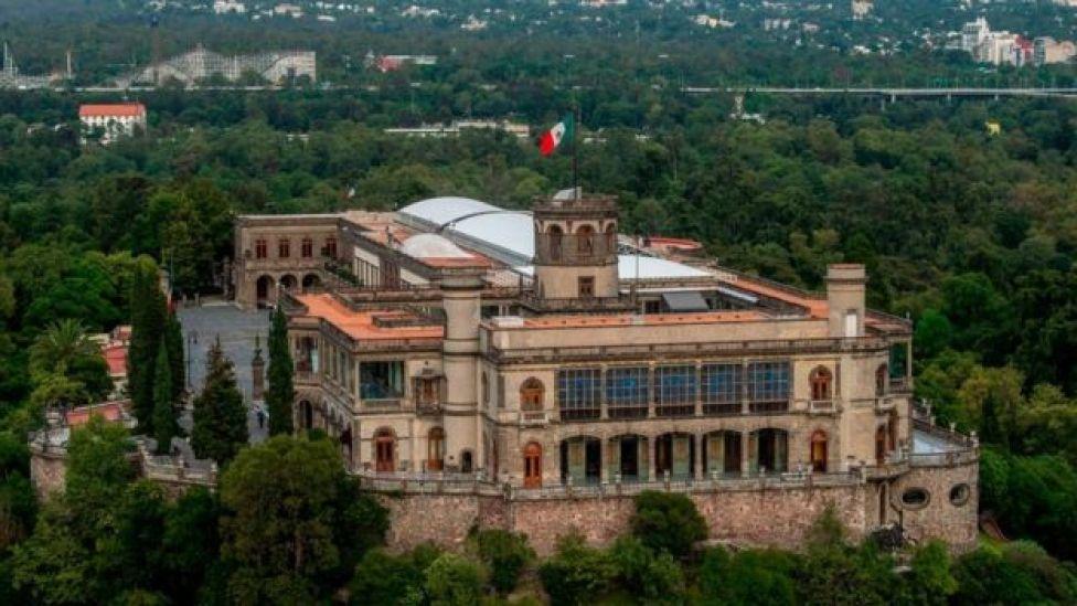 Vista del castillo de Chapultepec.
