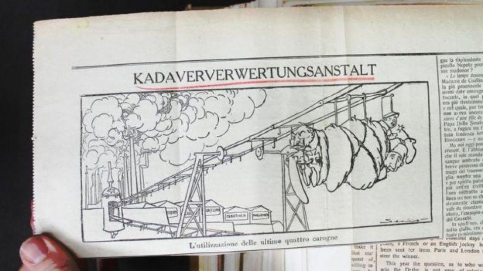 Dibujo de un periódico
