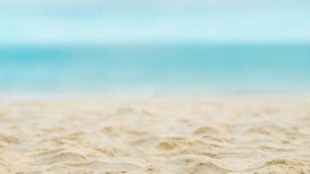 Imagem de uma praia