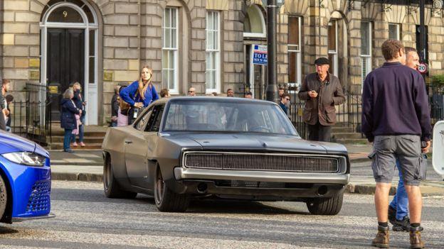 سريع وغاضب 9 تصوير في ادنبره