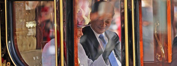 The Queen and China's President Xi Jinping