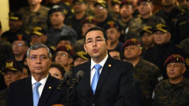El presidente de Guatemala, Jimmy Morales.