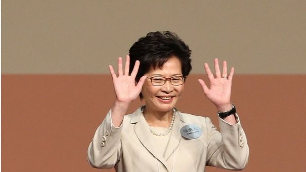 Carrie Lam, freshly elected as Hong Kong's chief executive, 26 March 2017