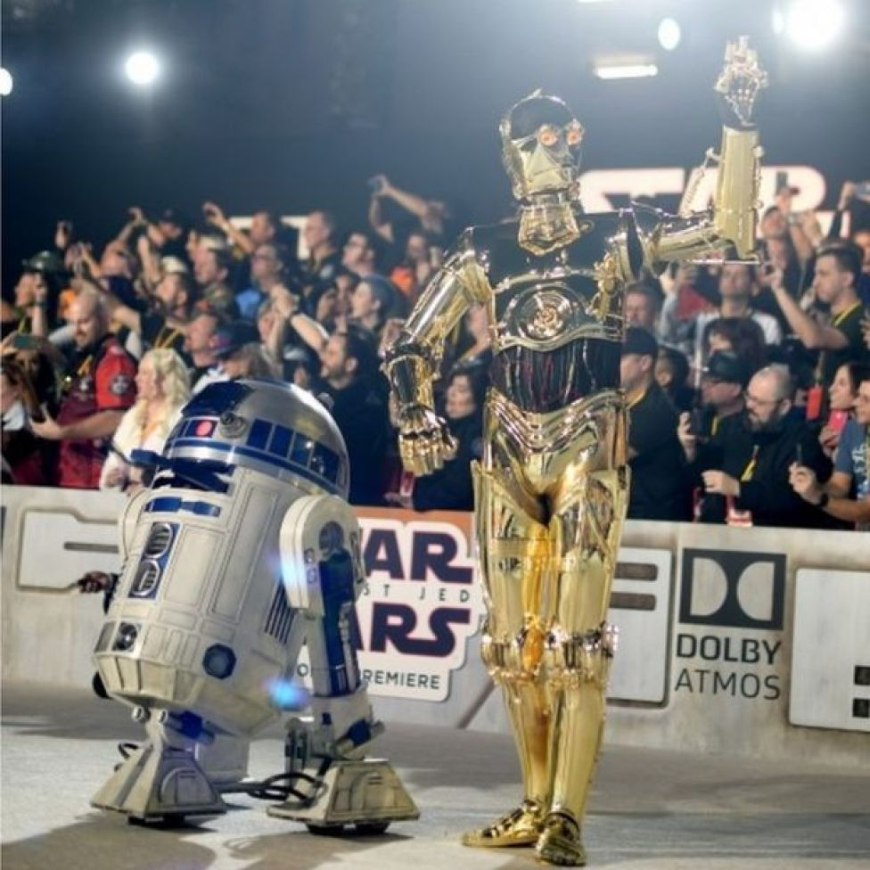 R2-D2 y C-3PO.