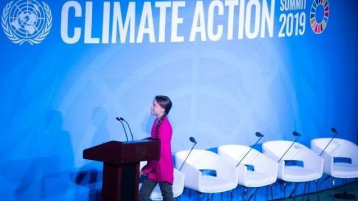 Greta Thunberg en la cumbre del clima de la ONU.