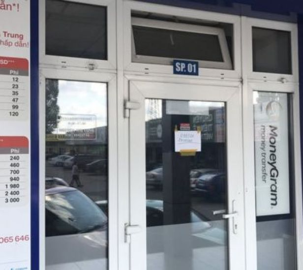Văn phòng của doanh nghiệp chuyển tiền do ông Nguyễn Hải Long đứng tên hiện đang đóng cửa im ỉm.