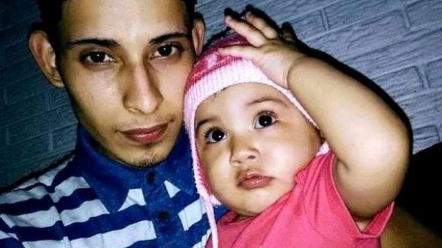 Retrato de Oscar Ramirez e sua filha Valeria