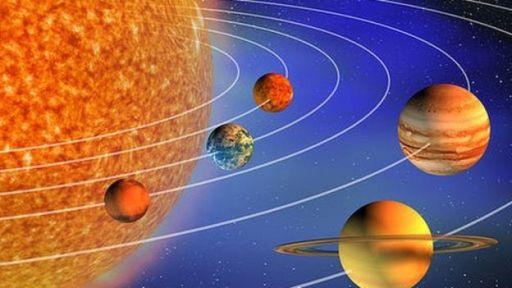 Ilustración de parte del Sistema Solar