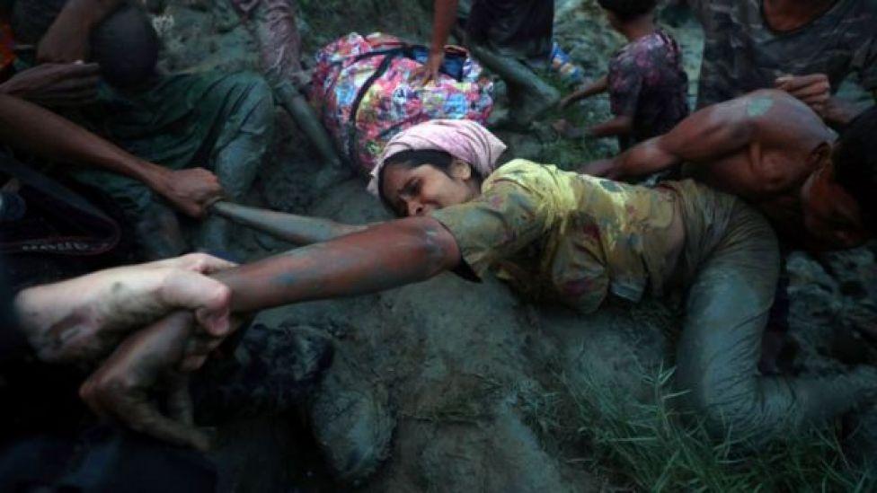 Ololihii rabshadaha watay ee ka dhanka ahaa Muslimiinta Rohingya ayaa waxaa uu horseeday shacab badan ay dalkaas isaga cararaan
