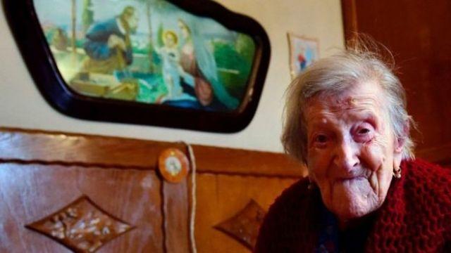 Emma Morano en su casa