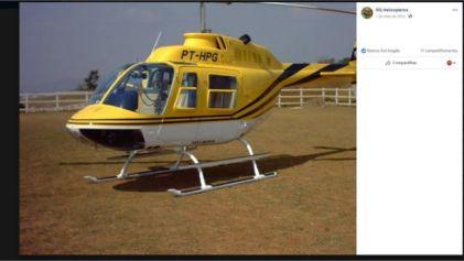 Foto da aeronave no Facebook da empresa