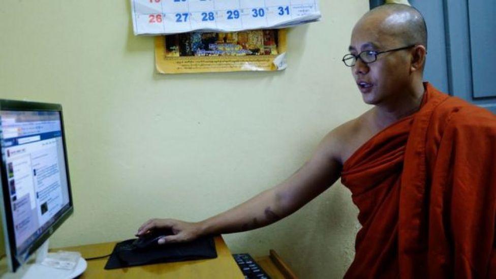 Wirathu ayaa farrintiiisa ka dhanka muslimiinta ku faafin jiray baraha bulshada