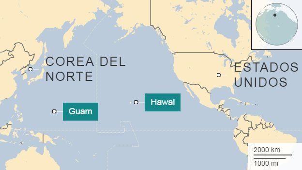 Mapa del Pacífico