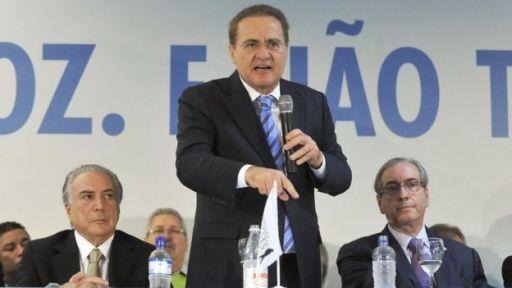 Michel Temer, Renan Calheiros e Eduardo Cunha