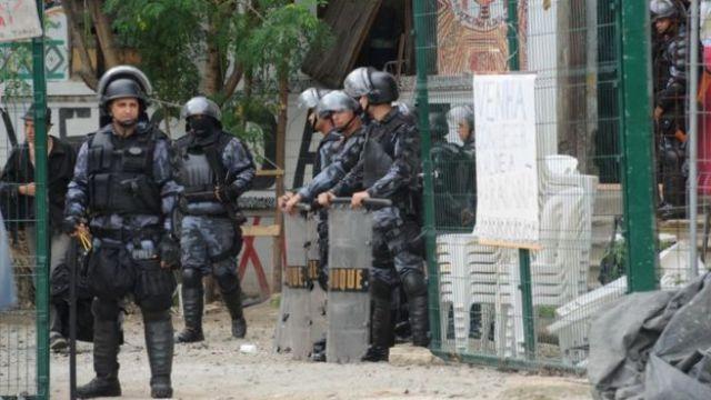Policiais militares do Choque