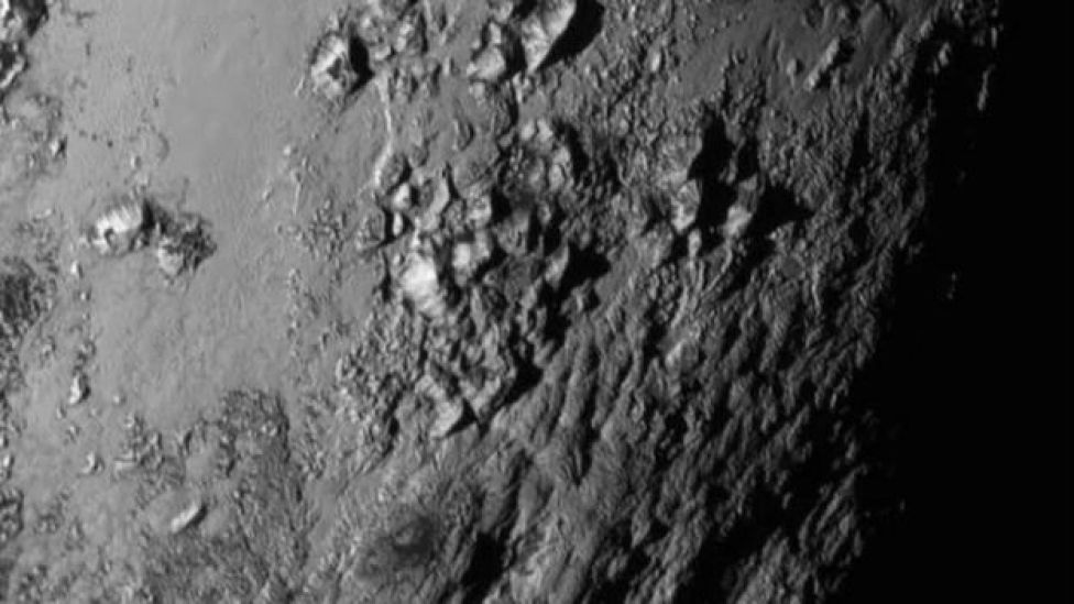 Imagen cercana de Plutón captada por la sonda.
