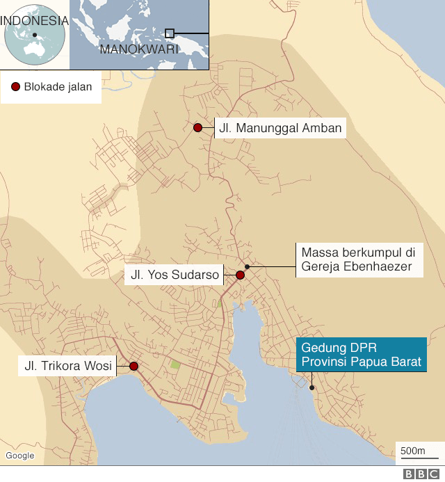 Peta Manokwari