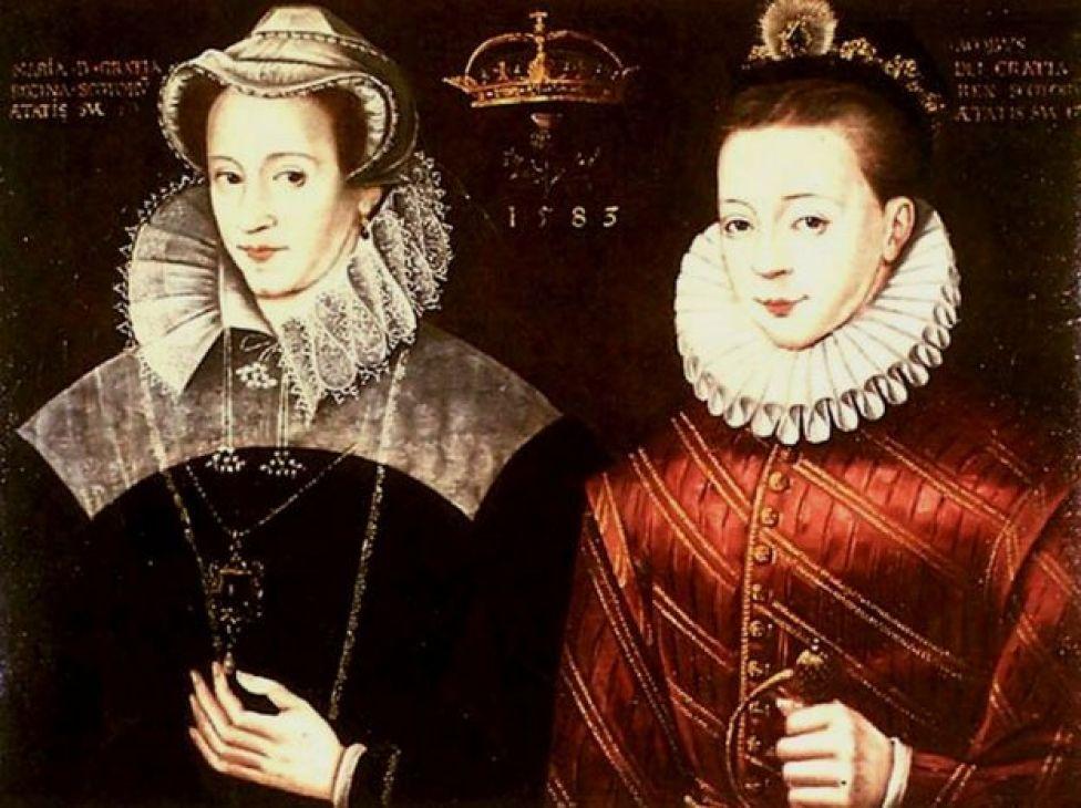 María I de Escocia con su hijo Jacobo VI. Autor desconocido.