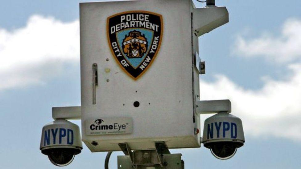 Las cámaras de seguridad en Nueva York.