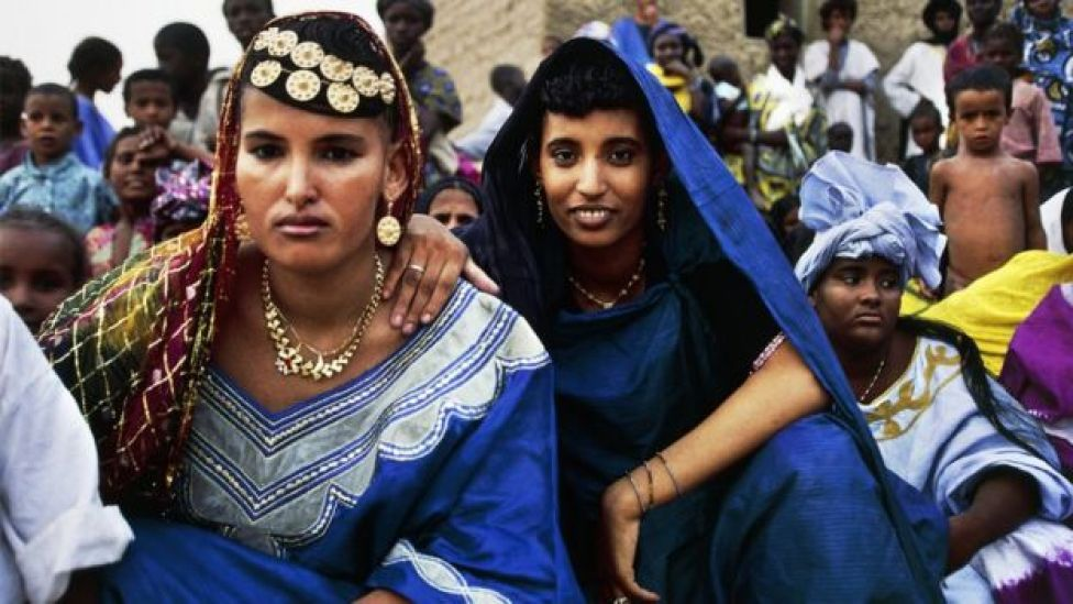 Young Tuareg women at a wedding party, Timbuktu, Mali