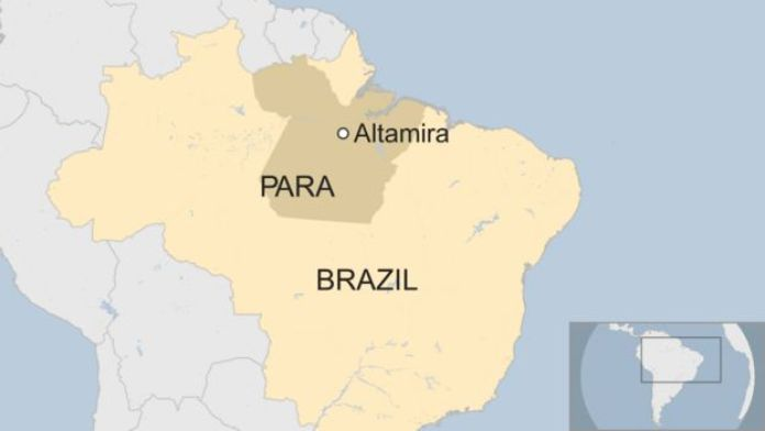 A map shows Altamira in Para, Brazil