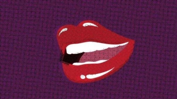 Un dibujo de unos labios