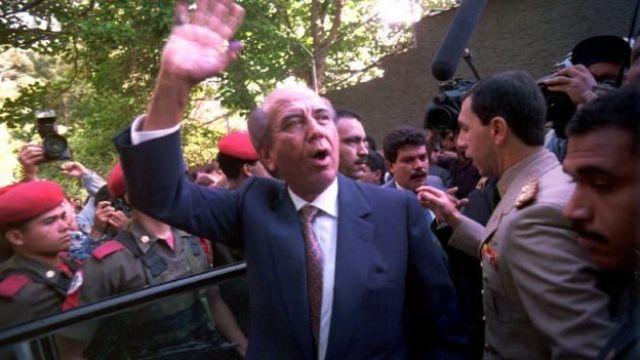 Carlos Andrés Pérez, ex-presidente da Venezuela, em imagem de 1992