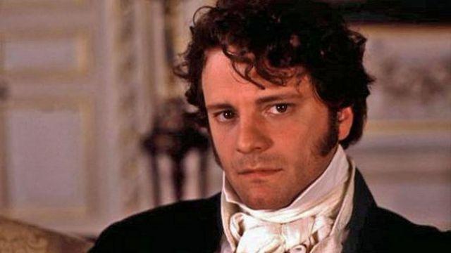 Colin Firth interpretando a Mr. Darcy en la serie de la BBC de 1995.