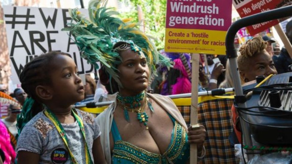 Windrush protest crowd
