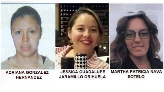 Las tres mujeres asesinadas