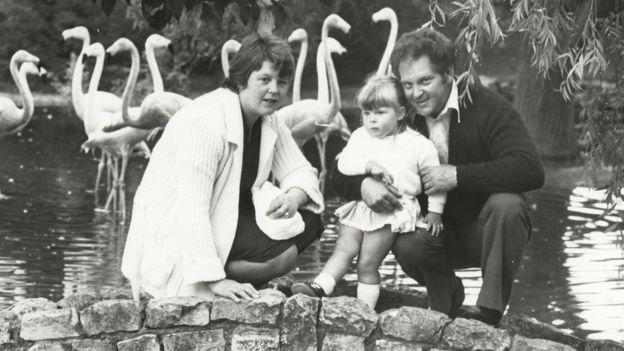 John e Lesley Brown com sua filha Louise