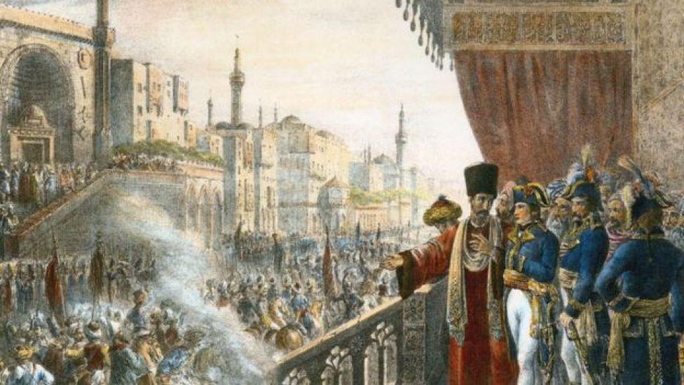 بونابرت أثناء احتفالات في القاهرة