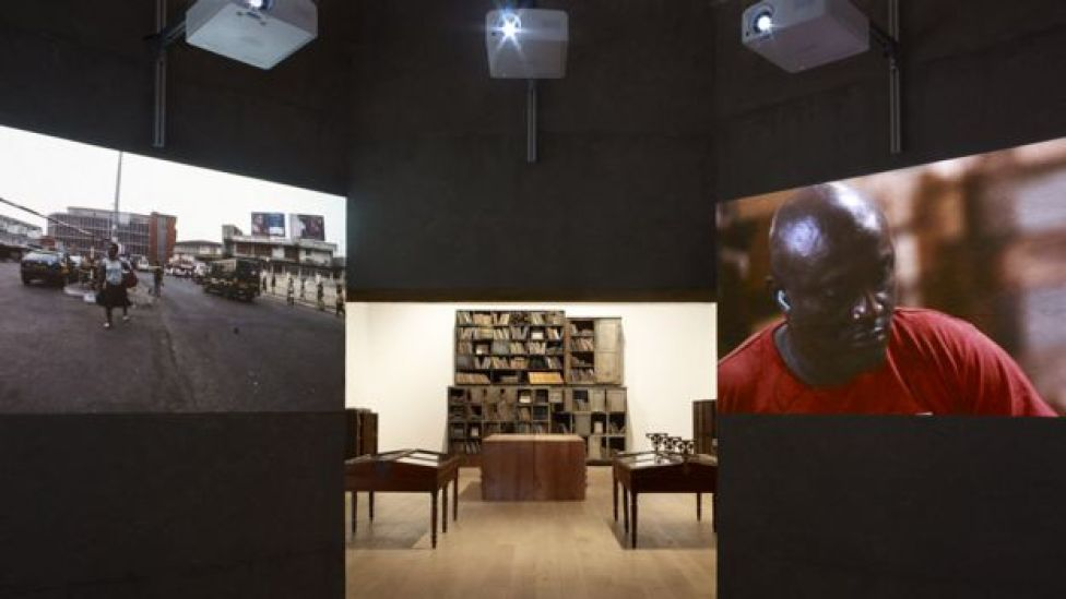 Parliament of Ghosts by Ibrahim Mahama at Whitworth art gallery