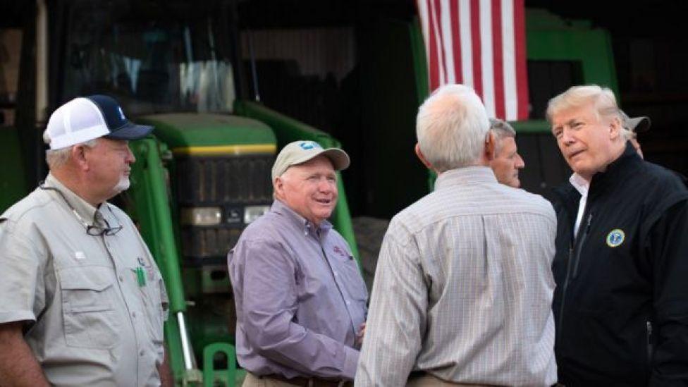Agricultores y Trump.