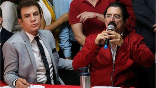 Salvador Nasralla y Manuel Zelaya