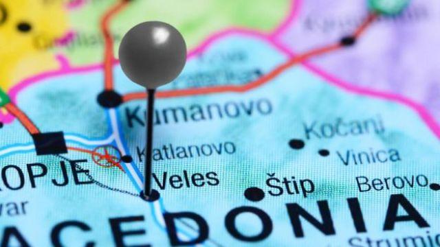 Map showing Veles