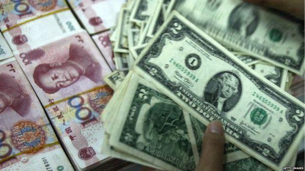 Yuan and dollar notes