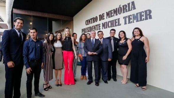 Cerimônia de abertura do Centro de Memória Michel Temer, em Itu
