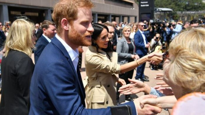 Prince Harry and Meghan Markle at Sydney Opera House
