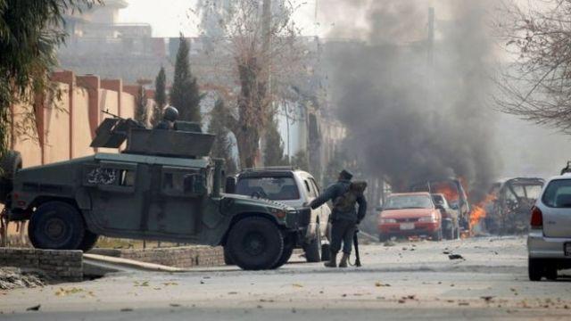 Scene of attack in Jalalabad