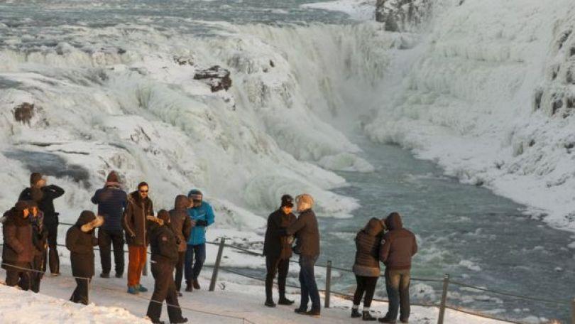 Paisagem gelada da Islândia