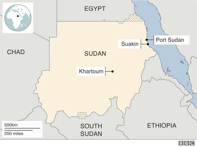 A map of Sudan