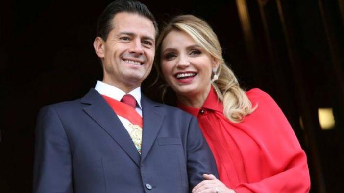 Peña Nieto junto a la primera dama, Angélica Rivera.