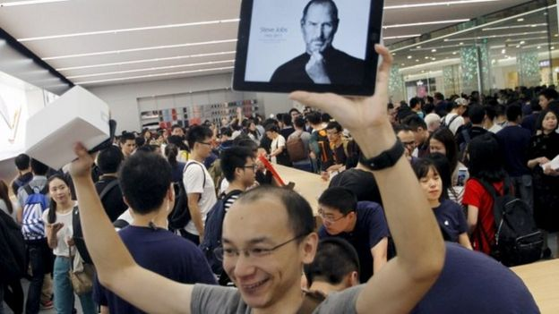 Opening of an Apple store in China