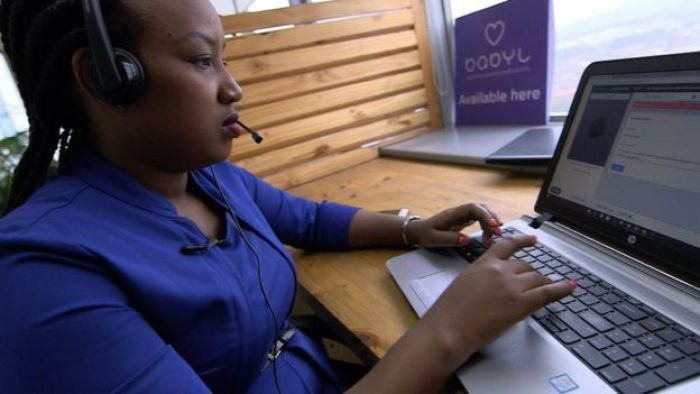 Nurse using Babylon software